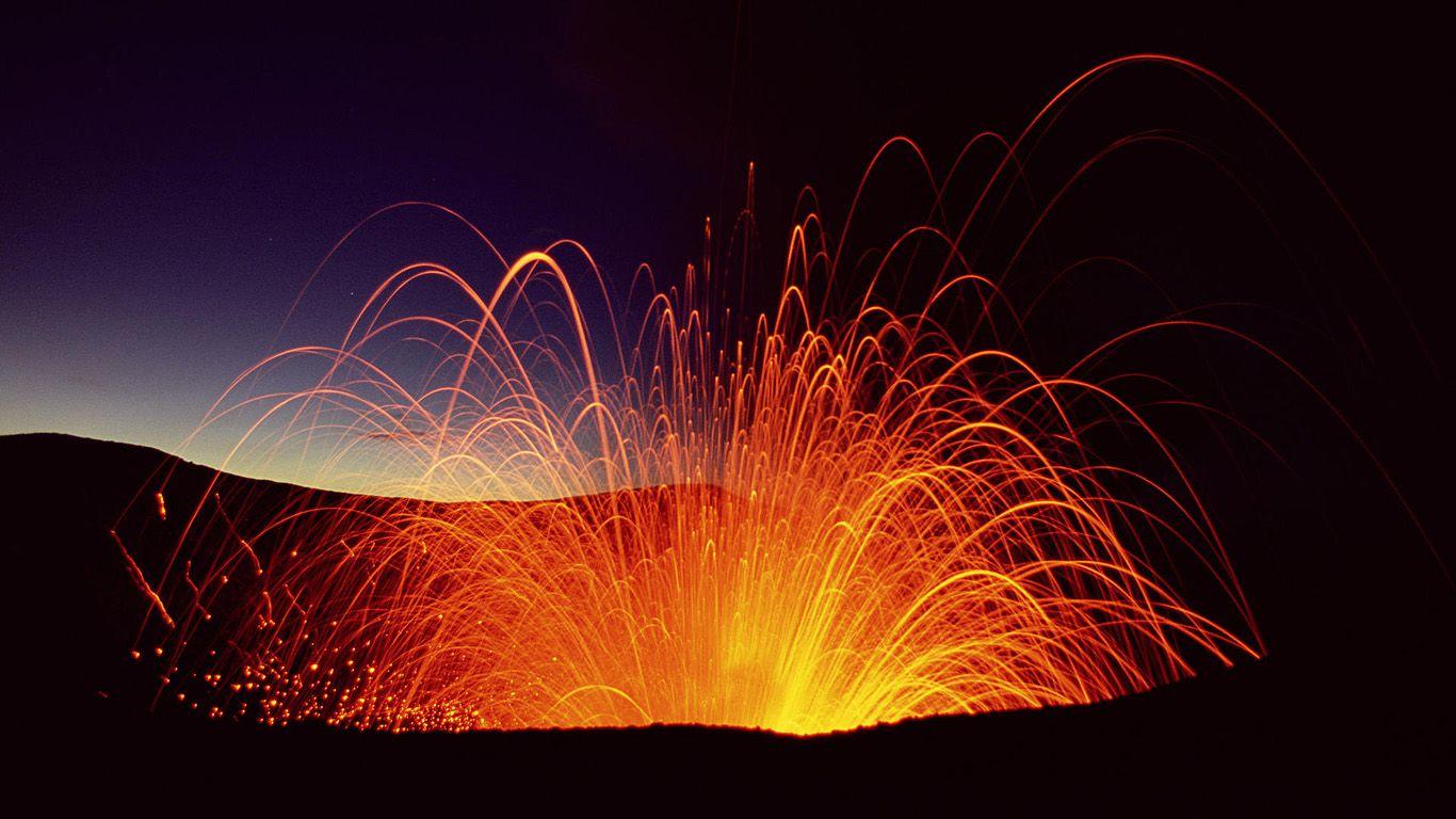 Извержение вулкана Ясур