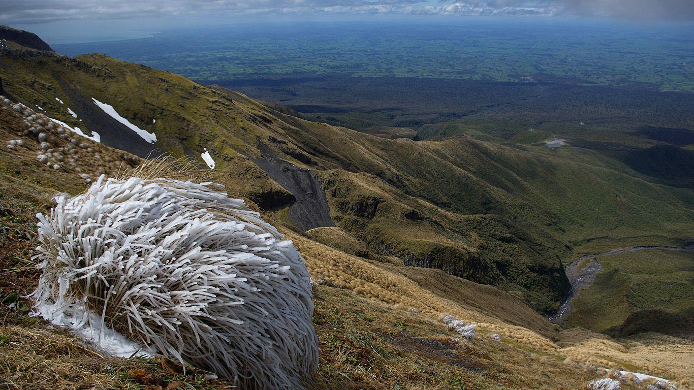 На горе.Вулкан Таранаки
