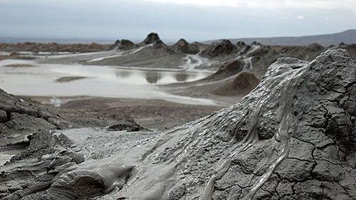 грязевые вулканы в Азербайджане