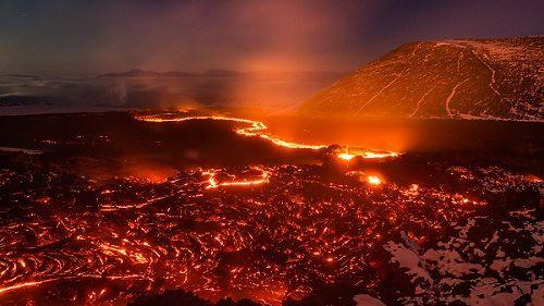 Местность после извержения вулкана