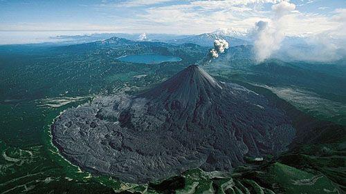 Пепел Карымского вулкана