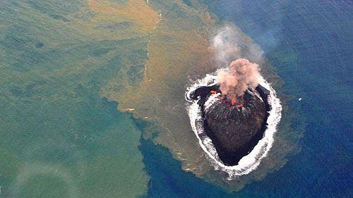 Подросший вулканический остров