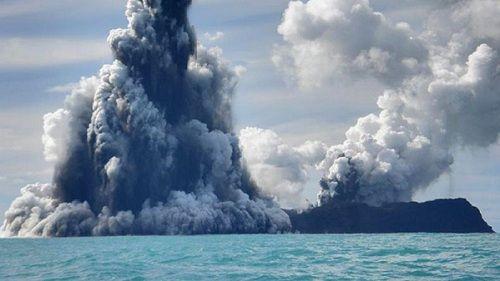 Подводный вулкан Хунга Хаапай острова Тонго