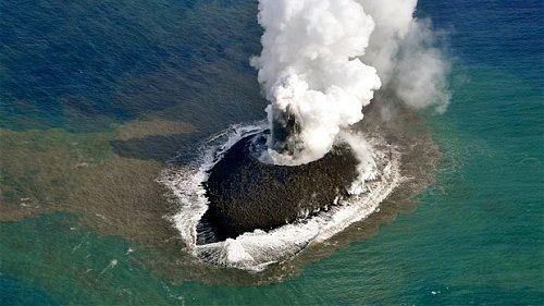 Выросший вулканический остров