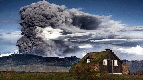 Исландия, извержение вулкана