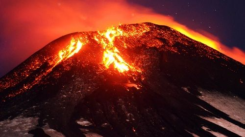 Извержение вулкана Вильяррика