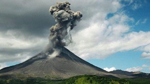 Один из вулканов Сибири